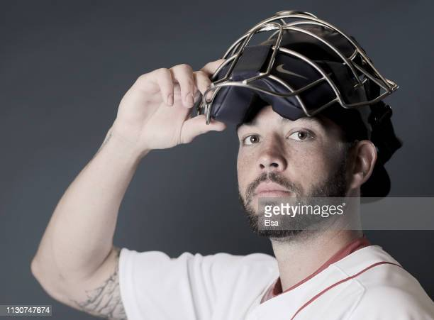 Blake Swihart of the Boston Red Sox poses for a portrait during Boston Red Sox Photo Day at JetBlue Park at Fenway South on February 19 2019 in Fort...
