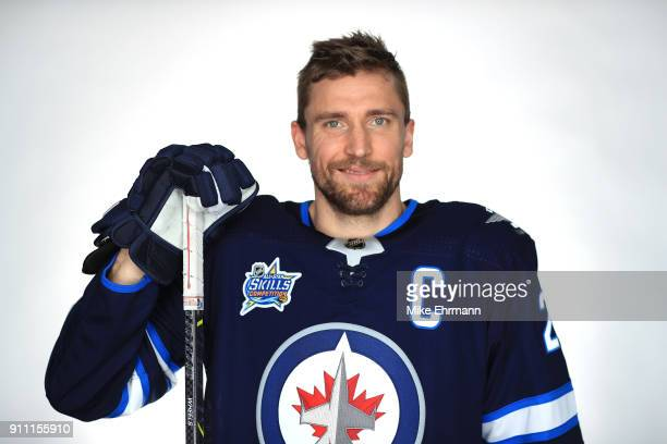 Blake Wheeler of the Winnipeg Jets poses for a portrait during the 2018 NHL AllStar at Amalie Arena on January 27 2018 in Tampa Florida