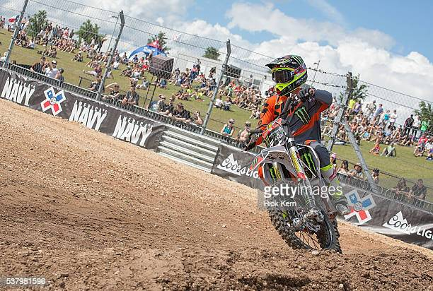 Blake Williams participates in Moto X Freestyle Warmup during X Games Austin at Circuit of The Americas on June 2 2016 in Austin Texas