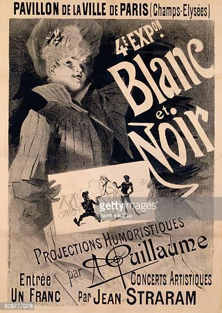 Blanc et Noir Poster by Jules Cheret