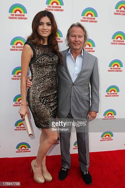 Blanca Blanco and actor John Savage attend Peace Over Violence Kicks Off Actors Over Violence Campaign at Edgemar Theater on August 2 2013 in Santa...