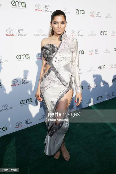 Blanca Blanco at the Environmental Media Association's 27th Annual EMA Awards at Barkar Hangar on September 23 2017 in Santa Monica California