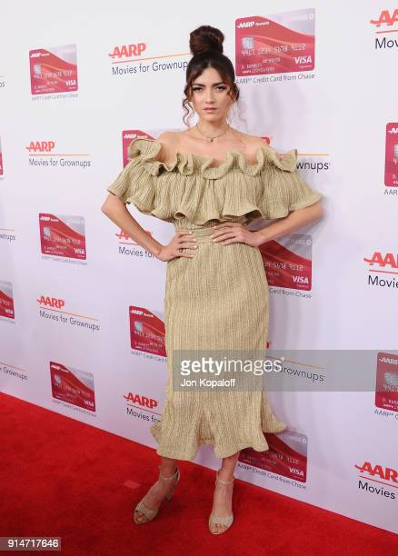 Blanca Blanco attends AARP's 17th Annual Movies For Grownups Awards at the Beverly Wilshire Four Seasons Hotel on February 5 2018 in Beverly Hills...