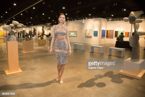 Blanca Blanco attends the 23rd Annual LA Art Show Opening Night Premiere Gala Benefiting St Jude Children's Research Hospital at Los Angeles...