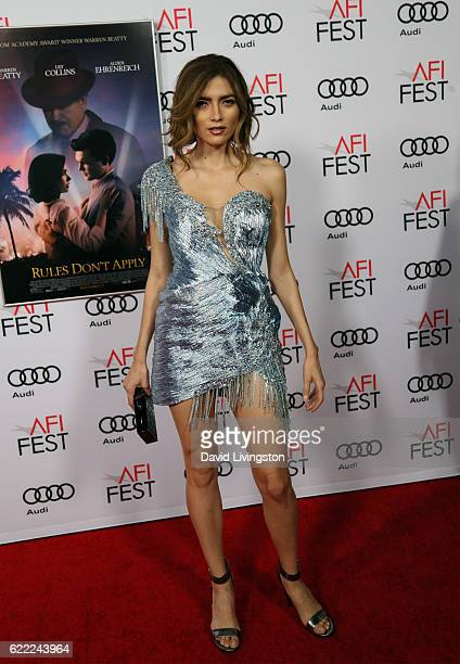 Blanca Blanco attends the premiere of Rules Don't Apply at AFI Fest 2016 presented by Audi at TCL Chinese Theatre on November 10 2016 in Hollywood...