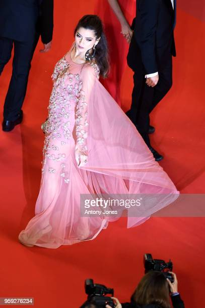 Blanca Blanco attends the screening of 'Dogman' during the 71st annual Cannes Film Festival at Palais des Festivals on May 16 2018 in Cannes France