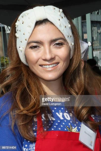 Blanca Blanco is seen at the Los Angeles Mission's Christmas Celebration on Skid Row on December 22 2017 in Los Angeles California