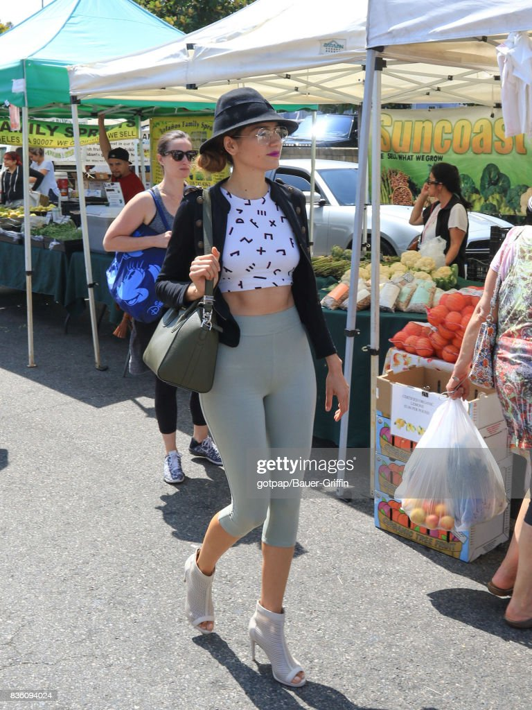 Blanca Blanco is seen on August 20, 2017 in Los Angeles, California.