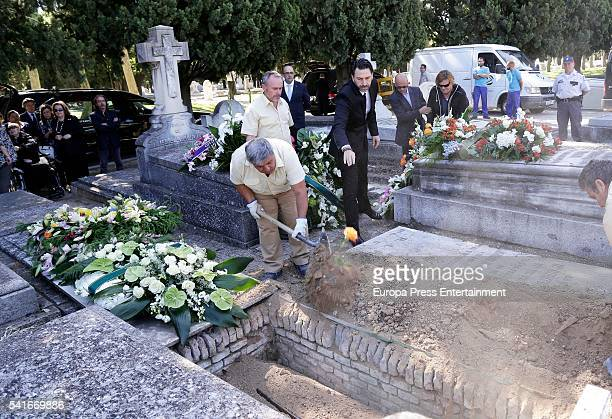 Blanca de Borbon and Leandro de Borbon attend the funeral for their father King Alfonso XIII of Spain's extramarital son Leandro de Borbon who died...