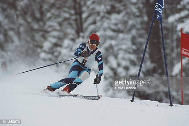 Blanca Fernandez Ochoa of Spain during the Women's Giant Slalom at the XIV Olympic Winter Games on 13 February 1984 in Jahorina SarajevoYugoslavia