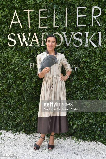 Blanca Li attends the Atelier Swarovski Cocktail Of The New Penelope Cruz Fine Jewelry Collection as part of Paris Fashion Week on July 2 2018 in...