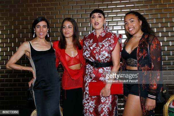 Blanca Li Hiba Abouk Rossy de Palma and her daughter Luna Mary attend the Jean Paul Gaultier Haute Couture Fall/Winter 20172018 show as part of Haute...