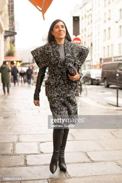 Blanca Li is seen attending Jean Paul Gaultier during Paris Haute Couture Fashion Week wearing Jean Paul Gaultier on January 23, 2019 in Paris,...