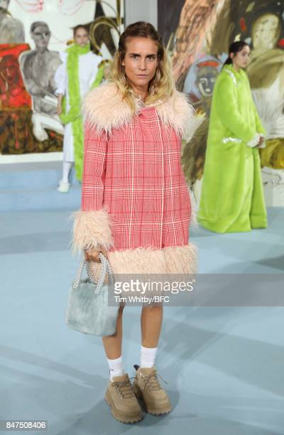 Blanca Miro attends the Shrimps presentation during London Fashion Week September 2017 on September 15 2017 in London England