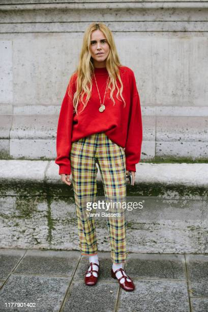 Blanca Miro poses after the Thom Browne show at the Ecole des Beaux Arts during Paris Fashion Week - Womenswear Spring Summer 2020 on September 29,...