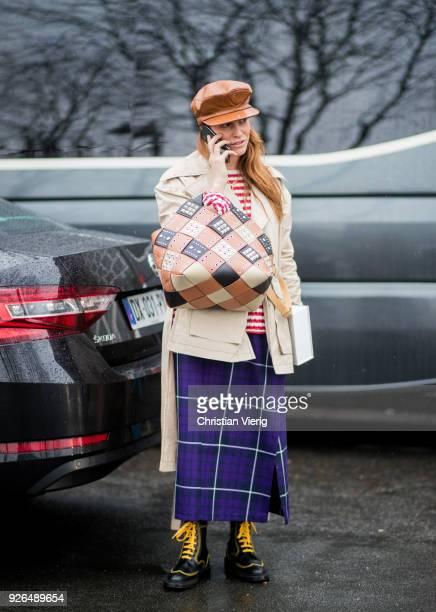Blanca Miro Scrimieri outside Loewe on March 2 2018 in Paris France