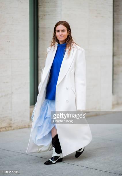 Blanca Miro Scrimieri seen outside Michael Kors on February 14 2018 in New York City