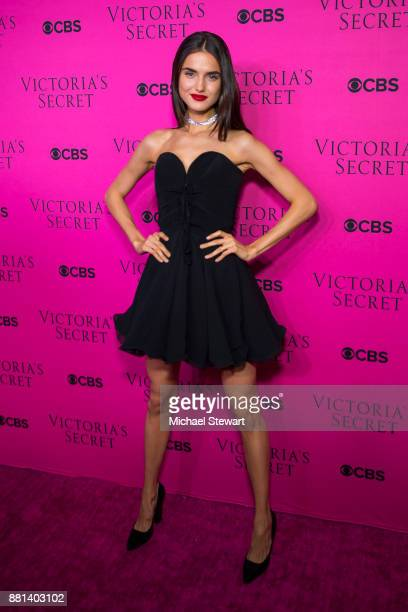 Blanca Padilla attends the 2017 Victoria's Secret Fashion Show viewing party pink carpet at Spring Studios on November 28 2017 in New York City