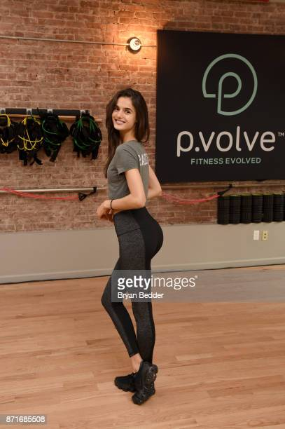 Blanca Padilla attends the Pvolve Launch with celeb trainer Stephen Pasterino Victoria's Secret Angel Blanca Padilla on November 8 2017 in New York...