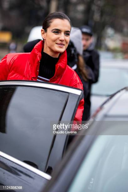 Blanca Padilla is seen outside Elie Saab show during Paris Fashion Week Haute Couture Spring Summer 2019 on January 23 2019 in Paris France