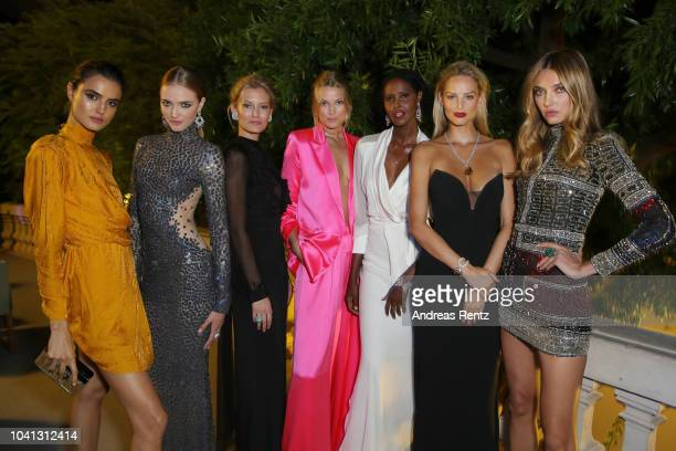 Blanca Padilla Vlada Rosljakova Charlott Cordes Toni Garrn Ubah Hassan Michaela Kocianova and Alina Baikova attend the Gala for the Global Ocean...