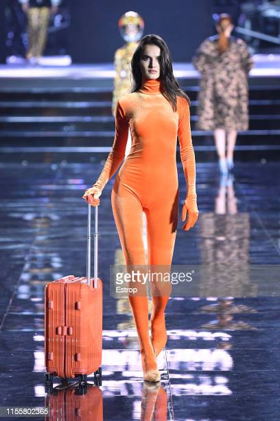 Blanca Padilla walks the CR Runway x LuisaViaRoma at Piazzale Michelangelo during the Pitti Immagine Uomo 96 on June 13 2019 in Florence Italy