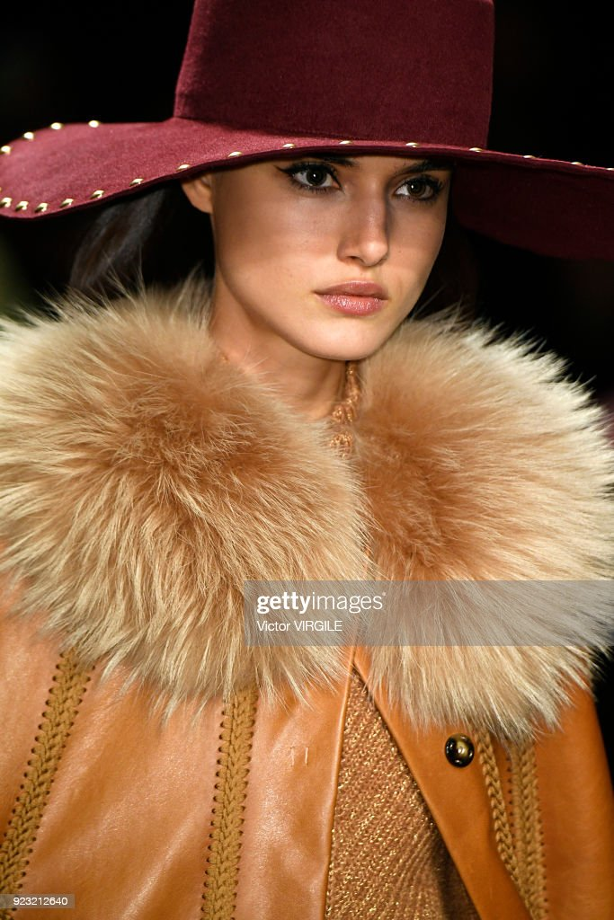 Blanca Padilla walks the runway at the Alberta Ferretti Ready to Wear Fall/Winter 2018-2019 fashion show during Milan Fashion Week Fall/Winter 2018/19 on February 21, 2018 in Milan, Italy.