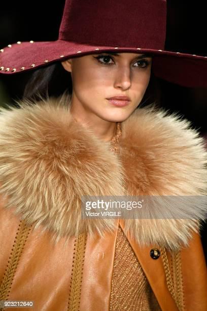 Blanca Padilla walks the runway at the Alberta Ferretti Ready to Wear Fall/Winter 20182019 fashion show during Milan Fashion Week Fall/Winter 2018/19...