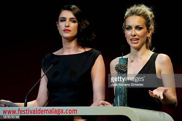 Blanca Romero and Kira Miro attend 16 Malaga Film Festival ceremony at Teatro Cervantes on April 27 2013 in Malaga Spain