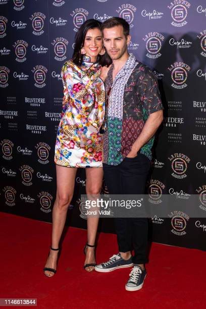 Blanca Romero and Marc Clotet attend Flower Power Party on May 02 2019 in Barcelona Spain