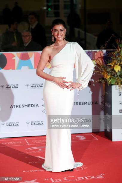 Blanca Romero attends '¿Que Te Juegas' premiere at the Cervantes Theater during the 22nd Malaga Film Festival on March 21 2019 in Malaga Spain