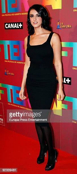 Blanca Romero attends the premiere of 'After' on October 23 2009 in Madrid Spain