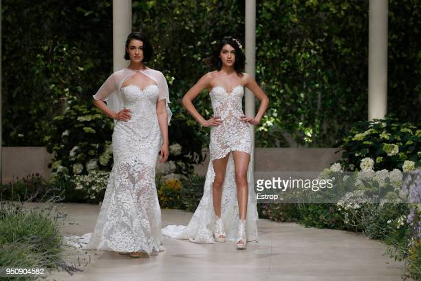 Blanca Romero Lucia Rivera walks the runway during the Pronovias show as part of the Barcelona Bridal Week 2018 on April 23 2018 in Barcelona Spain