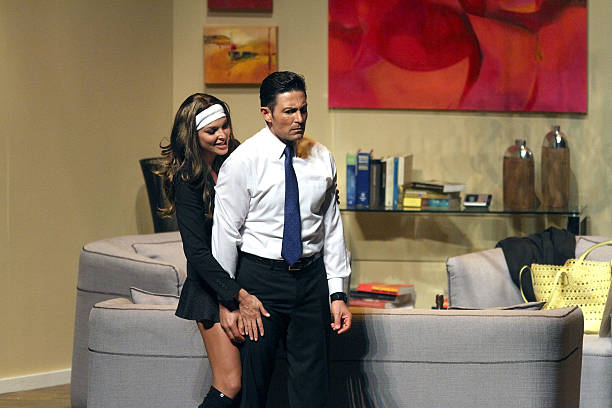 Blanca Soto and Fernando Colunga perform in 'Obscuro Total' At Bellas Artes on March 2, 2014 in San Juan, Puerto Rico.