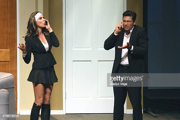 Blanca Soto and Fernando Colunga perform in 'Obscuro Total' At Bellas Artes on March 2 2014 in San Juan Puerto Rico