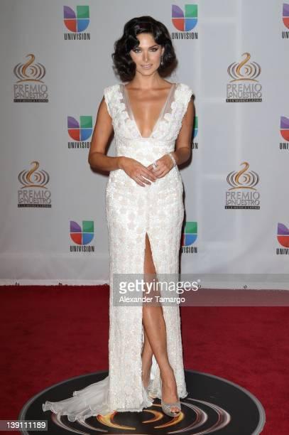 Blanca Soto arrives at Univision's Premio Lo Nuestro a La Musica Latina at American Airlines Arena on February 16 2012 in Miami Florida