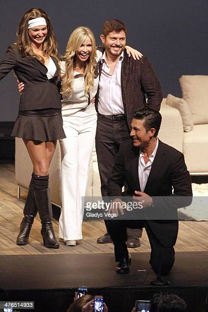 Blanca Soto Aylin Mujica Ernesto Laguardia and Fernando Colunga in 'Obscuro Total' At Bellas Artes on March 2 2014 in San Juan Puerto Rico