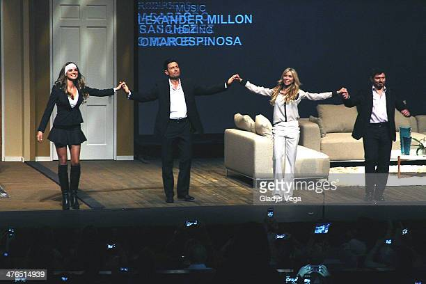 Blanca Soto Fernando Colunga Aylin Mujica and Ernesto Laguardia in 'Obscuro Total' At Bellas Artes on March 2 2014 in San Juan Puerto Rico