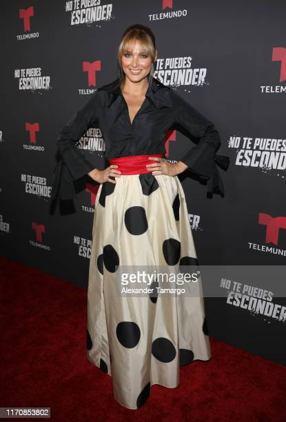 Blanca Soto is seen on the red carpet during the No Te Puedes Esconder premiere at Telemundo Center on September 24 2019 in Doral Florida