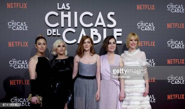Blanca Suarez Ana Fernandez Ana Maria Polvorosa Nadia de Santiago and Maggie Civantos attend the 'Las Chicas del Cable' Netflix Tv Series premiere at...