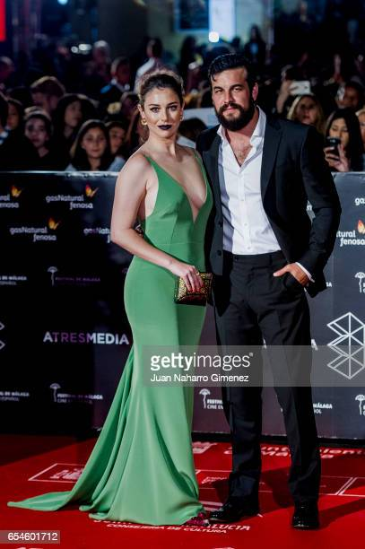 Blanca Suarez and Mario Casas attend the red carpet of the Gala Inaguration during the 20th Malaga Spanish Film Festival at the Cervantes Theater on...
