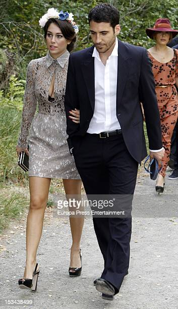 Blanca Suarez and Miguel Angel Silvestre attend the wedding of Juan Pablo Shuk and Ana De La Lastra on September 22 2012 in Biescas Spain