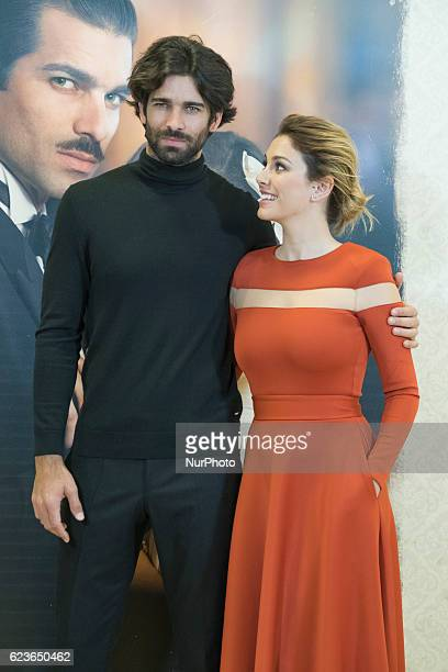 Blanca Suarez and Ruben Cortada attends the presentation of the TV series quotWhat hid her eyesquot in Madrid Spain on 16 November 2016