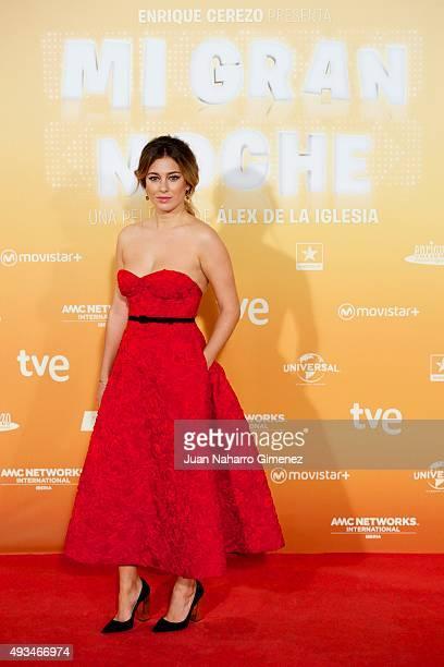Blanca Suarez attends 'Mi Gran Noche' premiere at Kinepolis Cinema on October 20 2015 in Madrid Spain