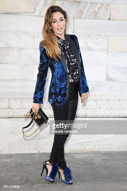 Blanca Suarez attends the Roberto Cavalli show as a part of Milan Fashion Week Womenswear Spring/Summer 2014 on September 21 2013 in Milan Italy