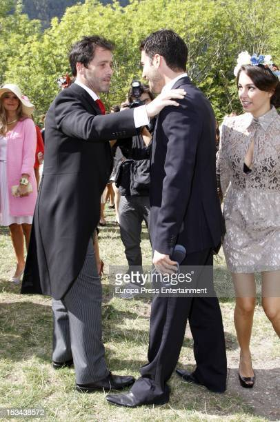 Blanca Suarez attends the wedding of Colombian actor Juan Pablo Shuk and Ana De La Lastra on September 22 2012 in Biescas Spain