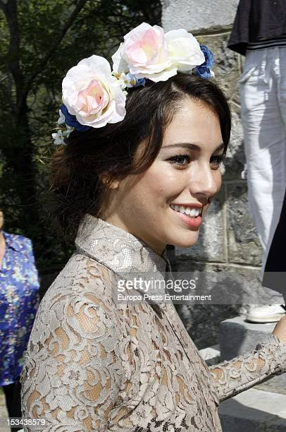 Blanca Suarez attends the wedding of Juan Pablo Shuk and Ana De La Lastra on September 22 2012 in Biescas Spain