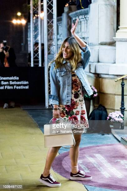 Blanca Suarez is seen arriving at Maria Cristina Hotel during 66th San Sebastian Film Festival on September 24 2018 in San Sebastian Spain