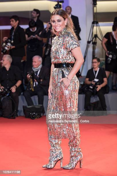 Blanca Suarez walks the red carpet ahead of the 'The Sisters Brothers' screening during the 75th Venice Film Festival at Sala Grande on September 1...