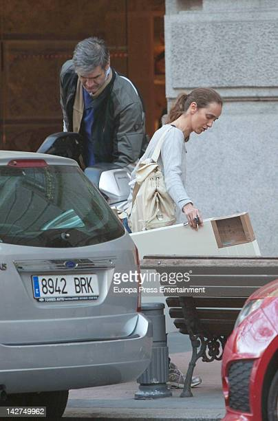 Blanca Suelves and Antonio Martin are seen on March 6 2012 in Madrid Spain